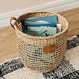 Max Grid Basket With Leather Handle