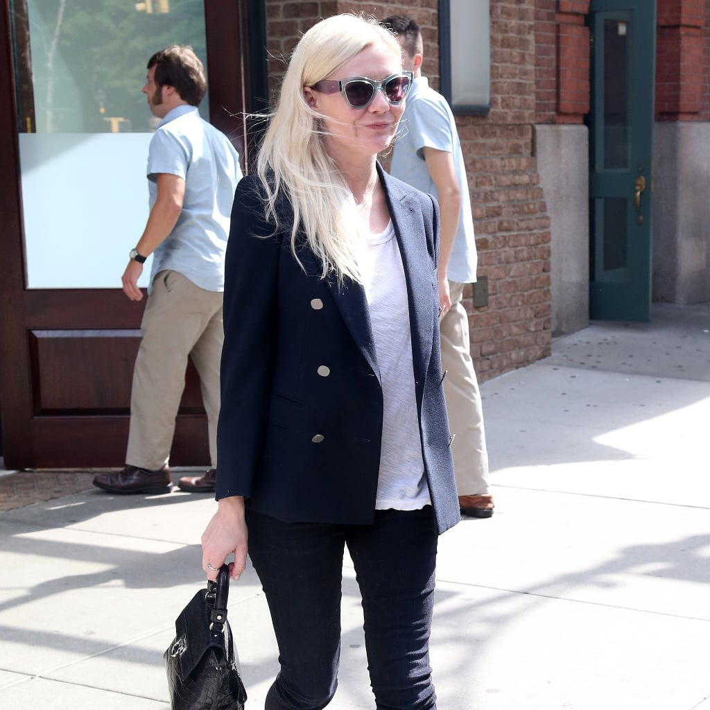 kirsten dunst blazer street style popsugar fashion. Black Bedroom Furniture Sets. Home Design Ideas