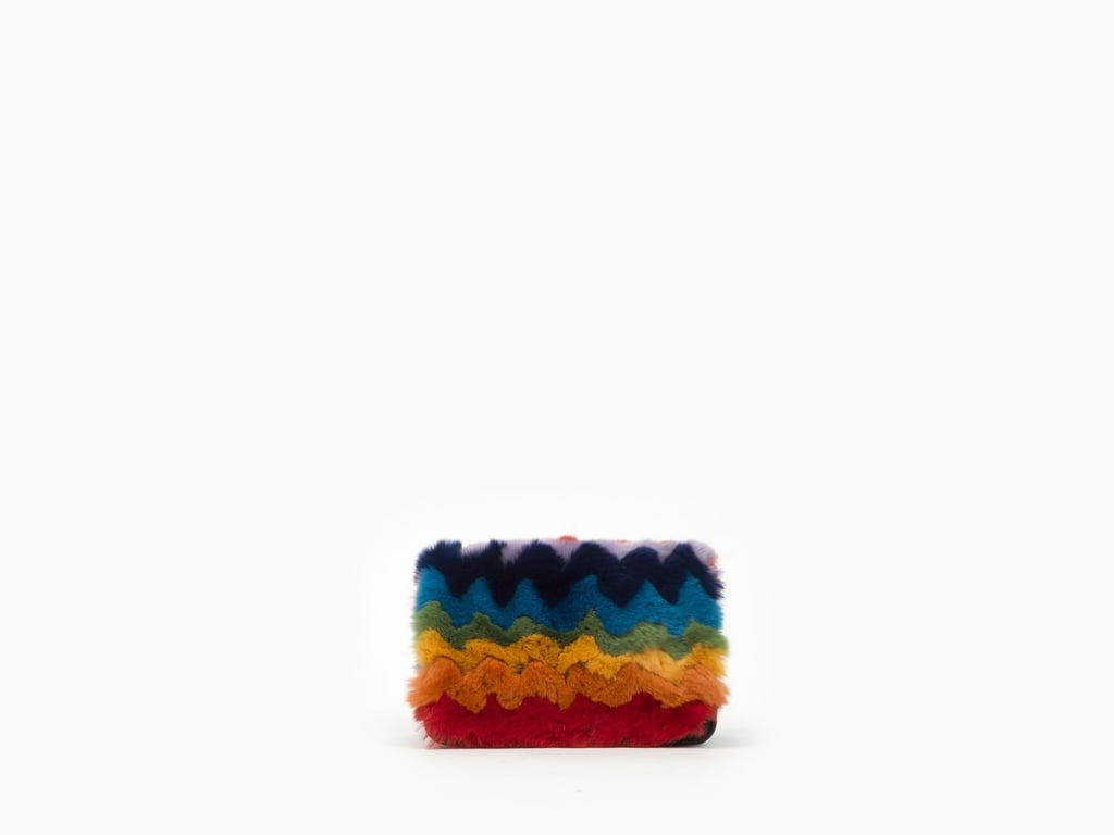 Les Petits Joueurs Ginny Rainbow Rabbit Fur Wallet