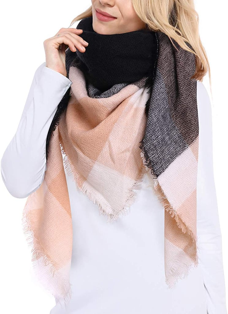Bess Plaid Blanket Scarf