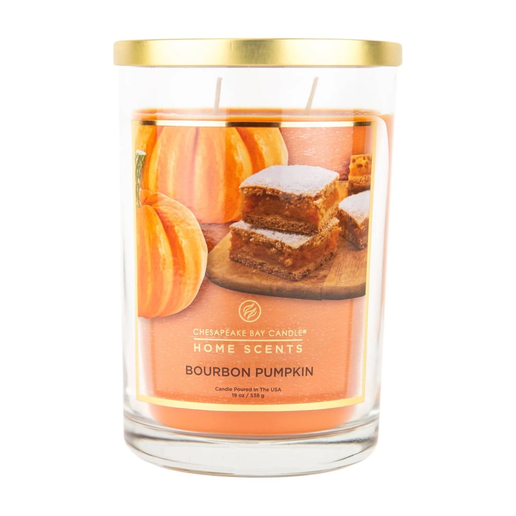 Bourbon Pumpkin Glass Jar 2-Wick Candle