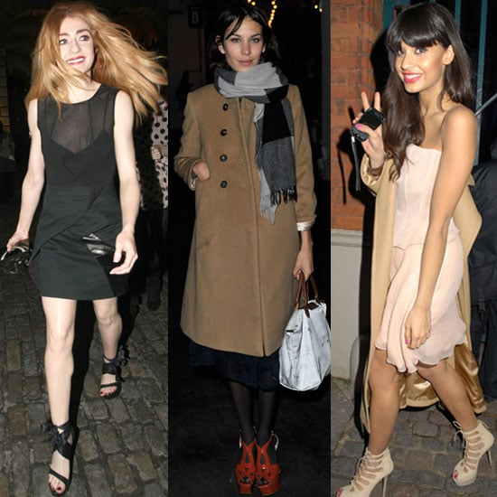 Roundup of Celeb Pictures From London Fashion Week Autumn Fall 2011 Including Alexa Chung, Dominic West, Olivia Palermo
