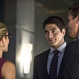Ray is also a potential love interest for Felicity. Thank goodness, too; it's been too long since The Flash caught her interest.
