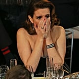 Tina Fey couldn't believe it when her name was called as a winner for outstanding performance by an actress in 30 Rock.