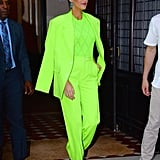 Blake Lively Turned Up the Electricity in a Fluorescent Pantsuit