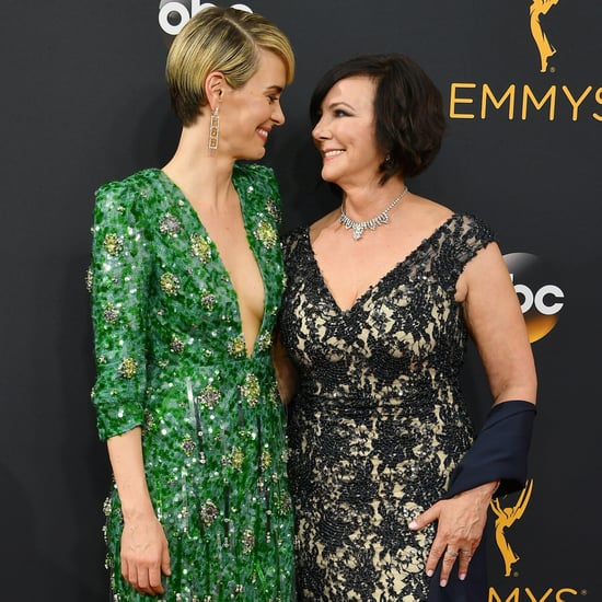 Sarah Paulson and Marcia Clark at the Emmy Awards 2016