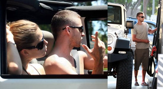 Justin & Biel Show Off Some Skin With The Top Down
