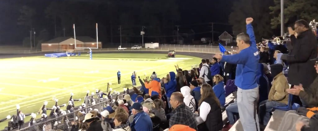 Video of Dad Performing Daughter's Cheers at Football Game