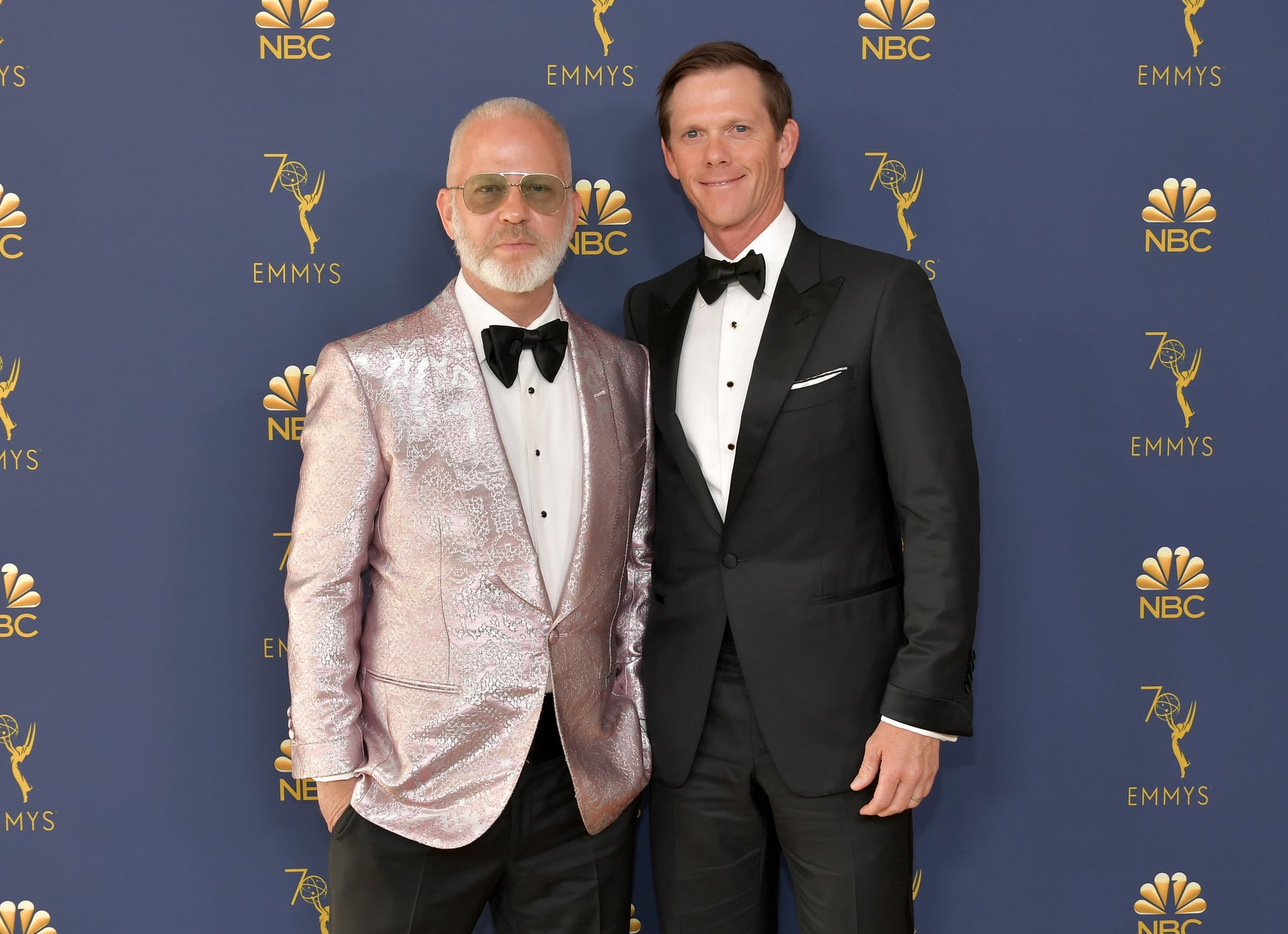LOS ANGELES, CA - SEPTEMBER 17:  Ryan Murphy (L) and David Miller attend the 70th Emmy Awards at Microsoft Theatre on September 17, 2018 in Los Angeles, California.  (Photo by Neilson Barnard/Getty Images)