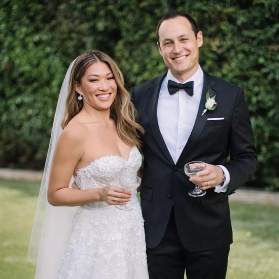 Jenna Ushkowitz Wears Kinsley James Couture Wedding Gown