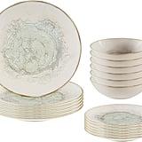 Stone & Beam Rustic Reactive-Glaze Stoneware 18-Piece Dinnerware Set