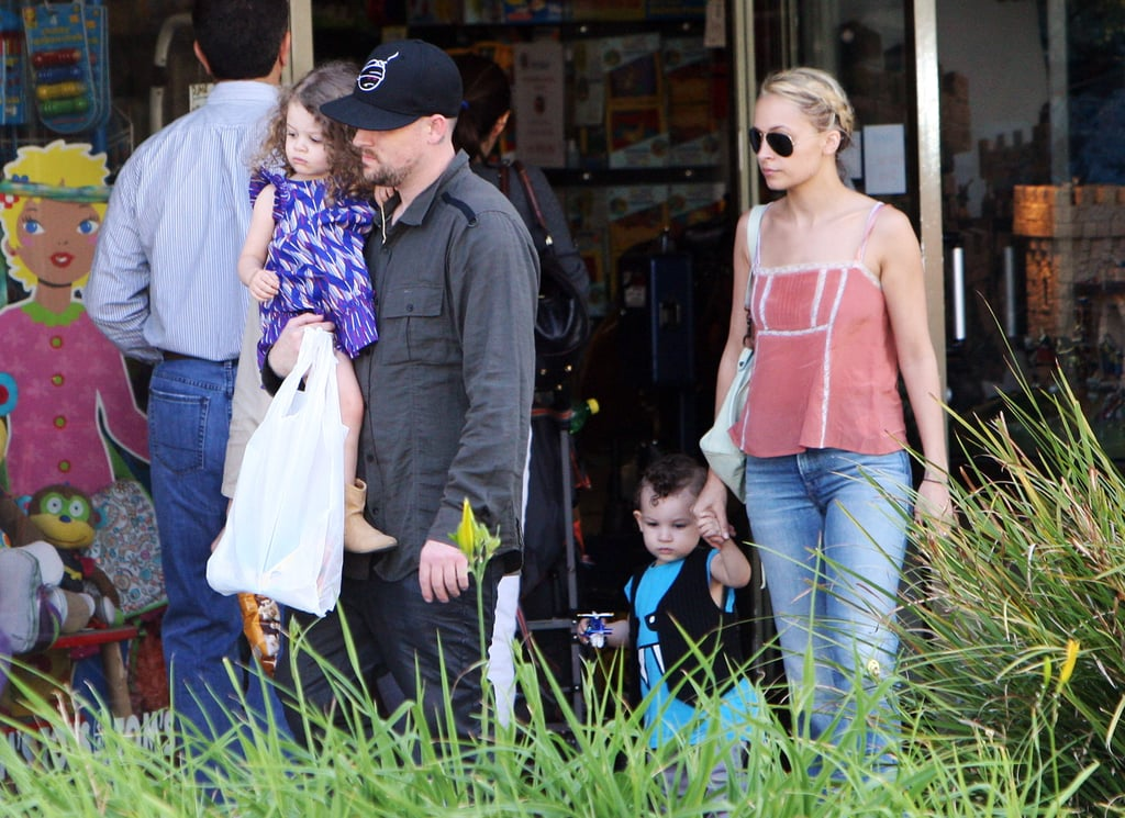 Nicole Richie and Joel Madden went shopping in Beverly Hills with Harlow and Sparrow in April 2011.
