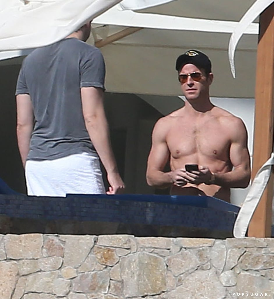 Jennifer Aniston kicked off her annual holiday vacation in Cabo on Monday with a day at the pool with her friends. The actress was seen relaxing in a black bikini while chatting with Justin Theroux, Jimmy Kimmel, and John Krasinski. On Tuesday John and Justin took a few ATV's out for a spin in the sand after lounging poolside with Howard Stern's wife, Beth Ostrosky, and Jimmy Kimmel's wife, Molly McNearney.  John and Jimmy are no strangers to Jennifer and Justin's Cabo trips, as both have been welcomed as guests on the couple's Mexican vacations over the years. Hopefully Jennifer will be able to get caught up on her R&R as the award season buzz surrounding her latest film, Cake, seriously starts to heat up. She has already been nominated for the Golden Globe for best actress in a drama, and she will face off against some fierce competition at the award show on Jan. 11.