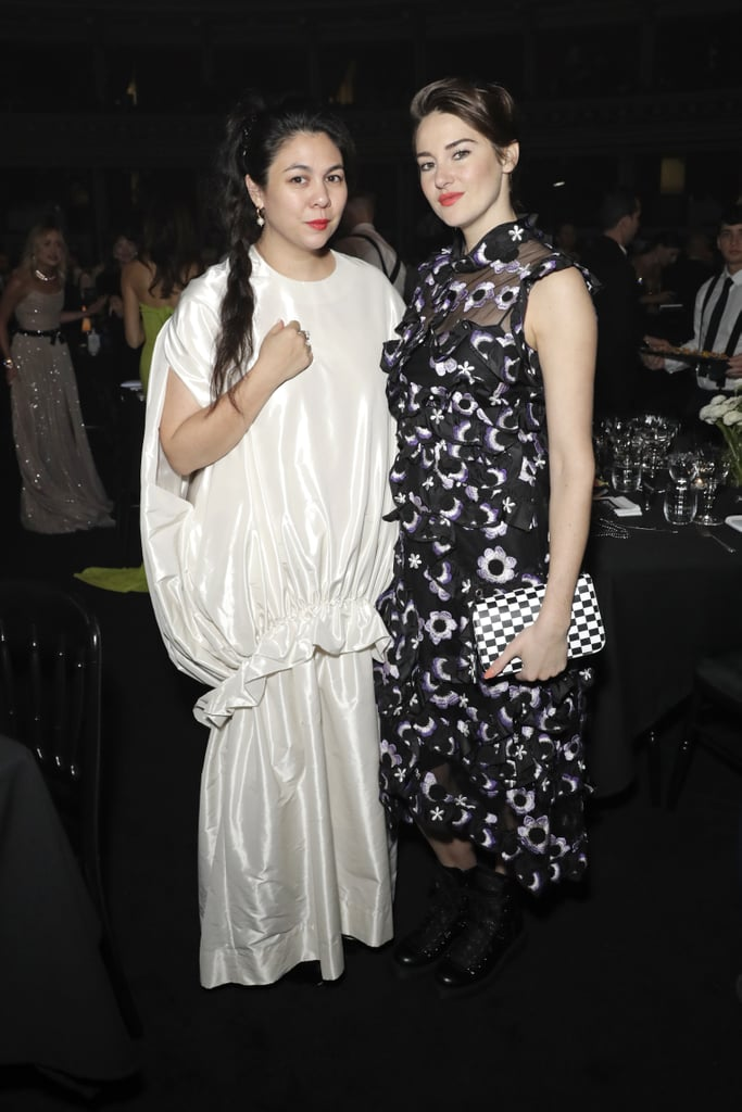 Simone Rocha and Shailene Woodley at the British Fashion Awards 2019 in London