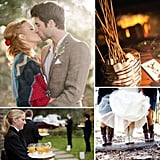 30 Ways to Keep Everyone Warm and Dry at Your Fall Wedding There is something romantic about a season spent snuggling up by the fire with a warm drink, watching the leaves change color, and soaking in spicy scents like pumpkin and cinnamon. So if you're looking to capture the coziness of Fall in your wedding while keeping your guests (and groom!) comfortable and happy, here are 30 ideas for a warm and dry Autumn wedding.