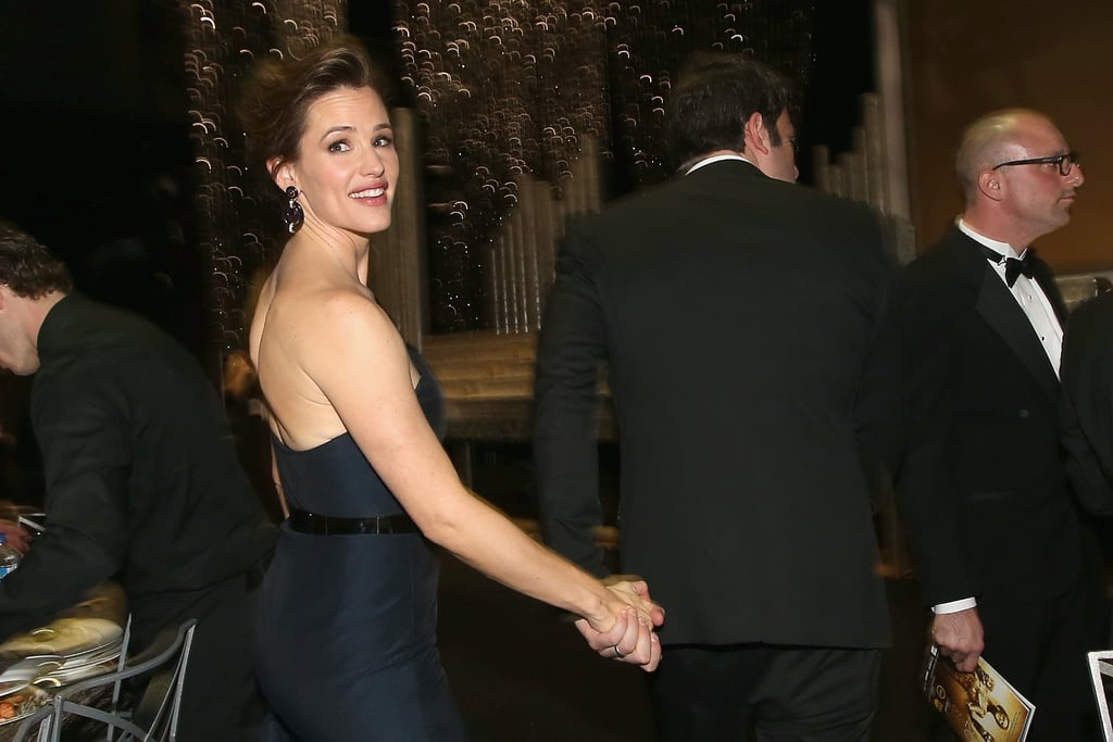 The couple held hands while leaving the SAG Awards in January 2014.