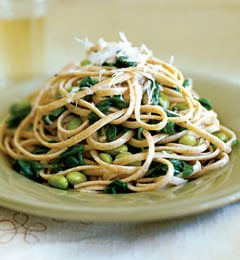 Fast & Easy Dinner: Linguine With Arugula and Edamame