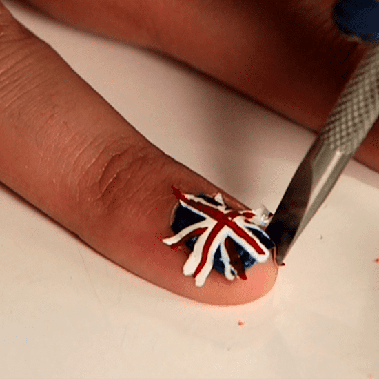 Make Your Own Nail Decals With Wax Paper And Nail Polish Popsugar Fashion Uk