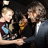 Cate was excited to meet Diego Luna at the show.