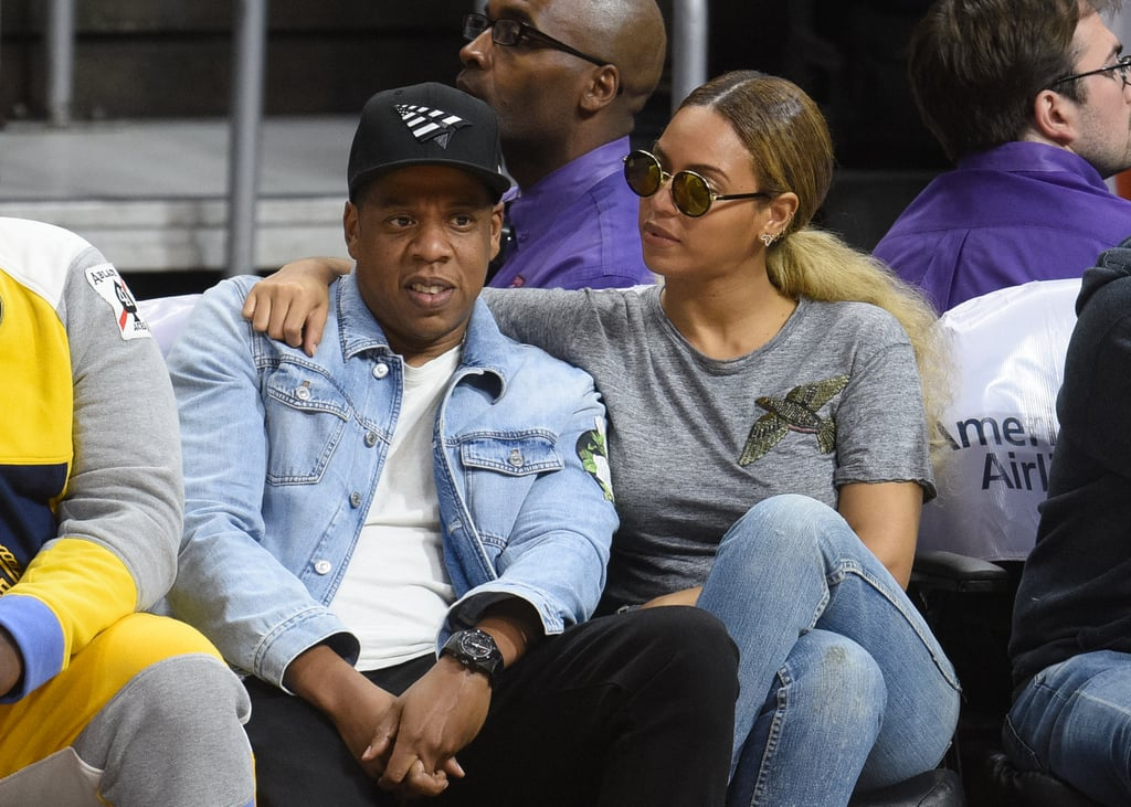 Beyonce and Jay Z at LA Clippers Game February 2016 ...