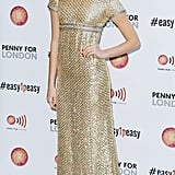 Pixie Lott resembled an angel at a performance in London.