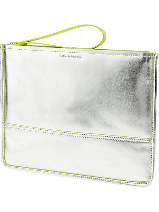 A flash of metallic makes this Wristlet ($80) as sleek as it is handy.