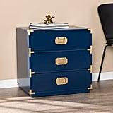 Mae Blue Three-Drawer Storage Chest