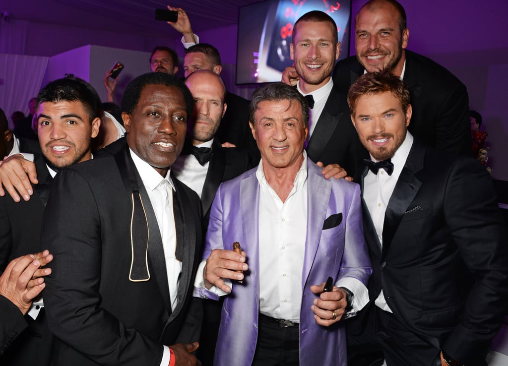 The guys of The Expendables 3 parties together at Gotha Night Club on Sunday.