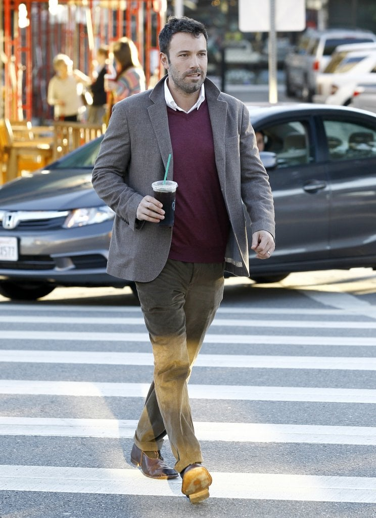 Ben Affleck was on the go.