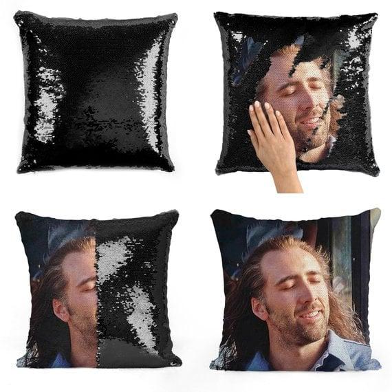 Nicolas Cage Con Air Sequin Pillow