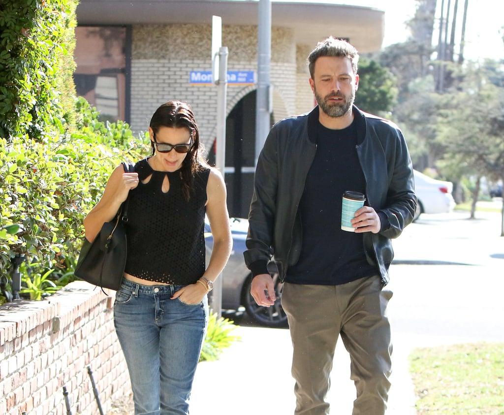 Nov. 19, 2016: Jen and Ben grab lunch together in Santa Monica, CA.