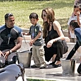 Angelina Jolie and Brad Pitt adopted Pax Jolie-Pitt from Vietnam in March 2007. Pax got right into the swing of things, feeding the killer whales in Antibes, France, that month while Maddox Jolie-Pitt waited for his turn.