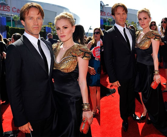 Pictures of Anna Paquin and Stephen Moyer at the 2010 Primetime Emmys