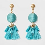 The Earrings: Sugarfix by BaubleBar Ball Drop with Tassels Earrings in Turquoise
