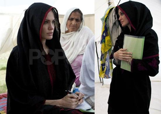 Angelina Jolie Meets With Pakistani Flood Victims