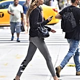 Gigi Hadid Hogan Platform Sneakers July 2016