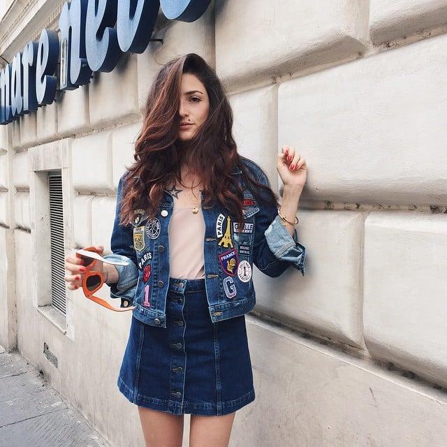 How to Style a Denim Skirt | POPSUGAR Fashion