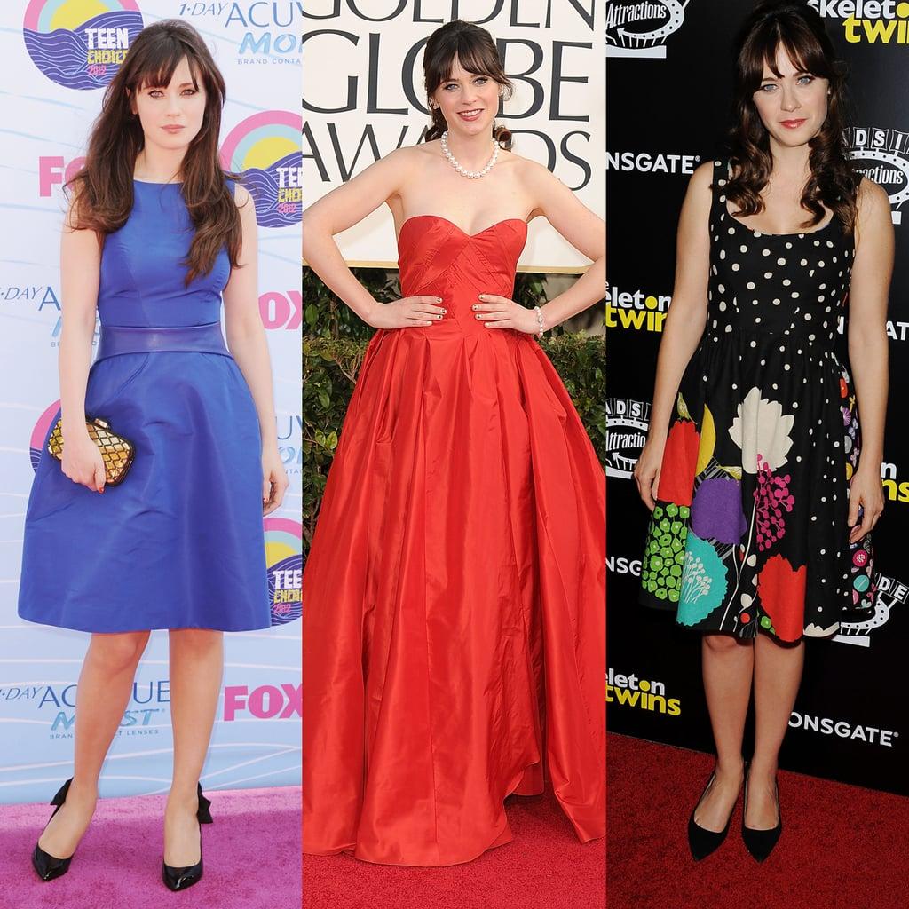 Zooey Deschanel Dress Style | Pictures | POPSUGAR Fashion