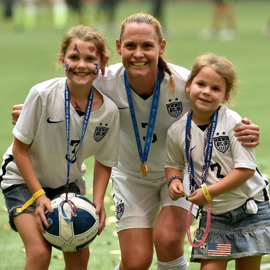 USA Women's Team Soccer Moms Celebrate With Their Kids