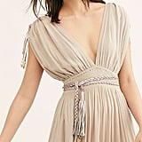 Free People Metallic Braided Wrap Belt
