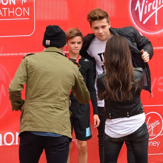 Beckham Family at London Marathon 2015 | Pictures
