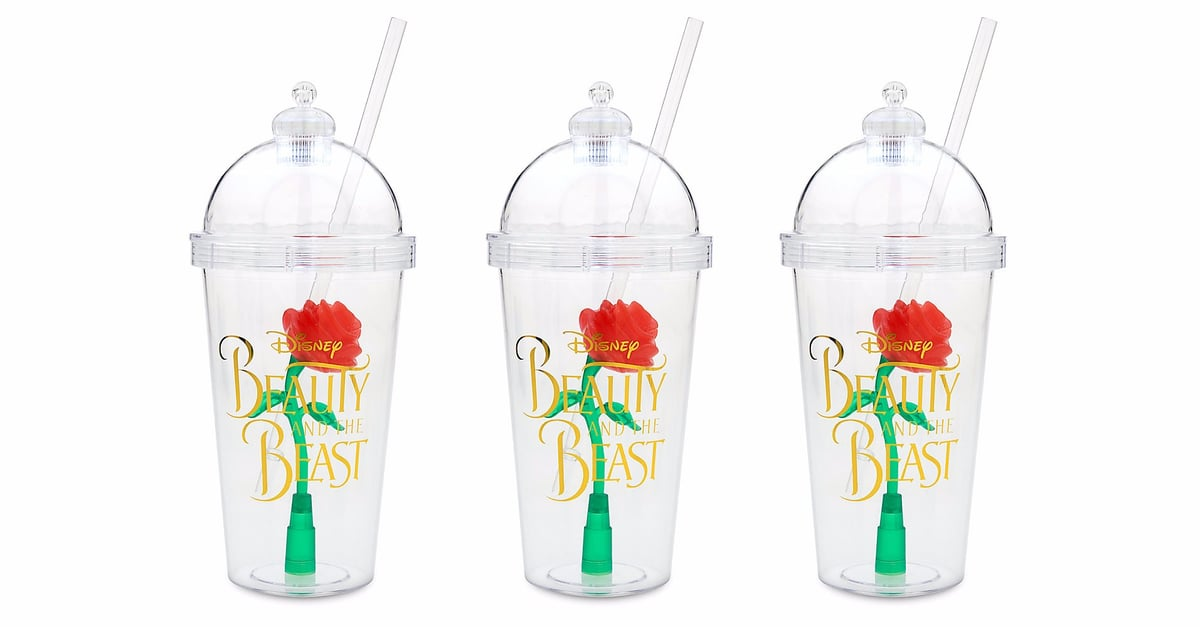 Beauty And The Beast Enchanted Rose Tumblers At Disney Store Popsugar Food