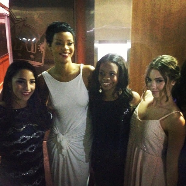 Rihanna happily posed with the US gymnastics squad. Source: Instagram user mckaylamaroney