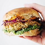 Cauliflower-Quinoa Burgers With Magic Green Sauce