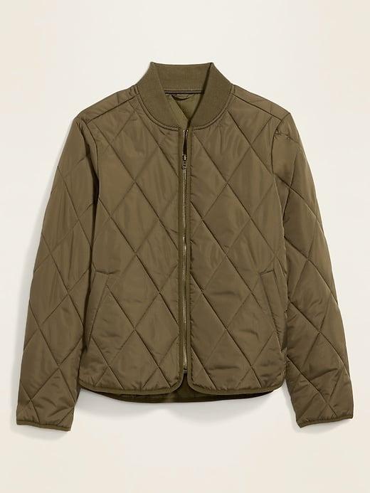 Old Navy Diamond-Quilted Zip Jacket