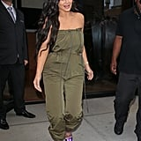 Complete a Neutral Jumpsuit With Flashy Metallic Heels