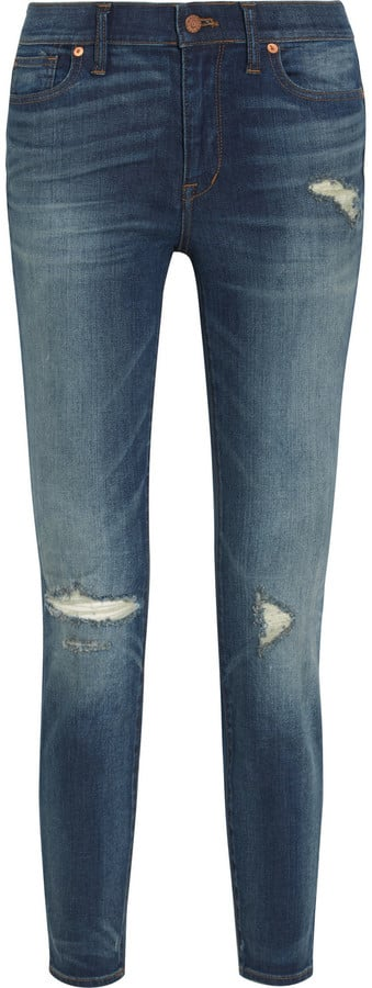 Madewell The High Riser Distressed Skinny Jeans ($135)