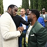 Diddy and Kevin Hart at the 2020 Roc Nation Brunch in LA