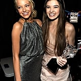 Emma Stone congratulated Hailee Steinfeld on her win in 2011.