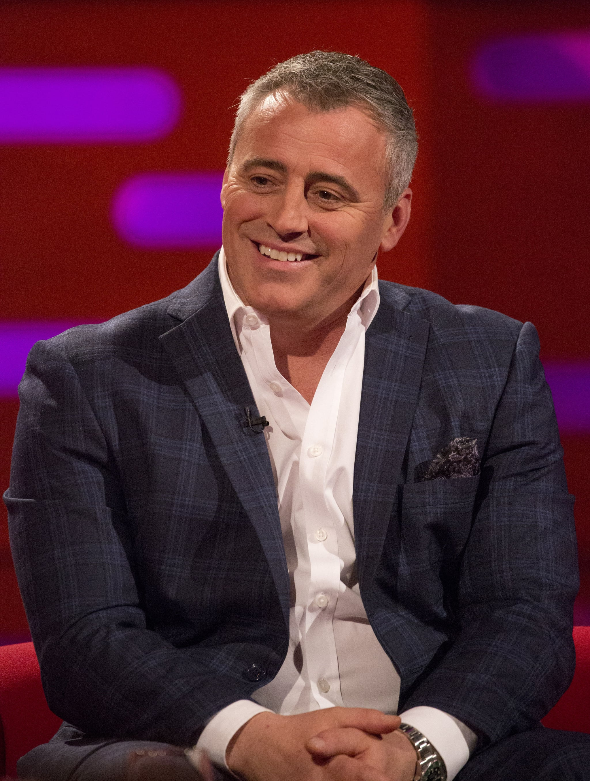 Matt LeBlanc during the filming of the Graham Norton Show at The London Studios, south London, to be aired on BBC One on Friday evening. (Photo by Isabel Infantes/PA Images via Getty Images)